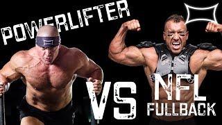 Powerlifter vs. NFL Fullback - 225 BENCH for MAX REPS!