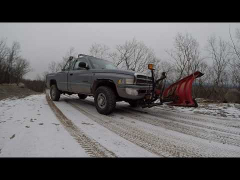Snow plowing with pickup truck 12 2016