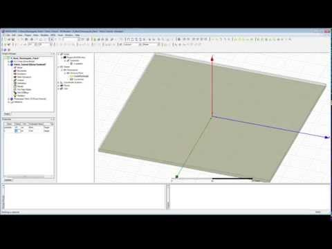 HFSS Tutorial - Modelling a Patch Antenna