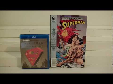 The Death of Superman vs Superman / Doomsday comic to video synopsis review.