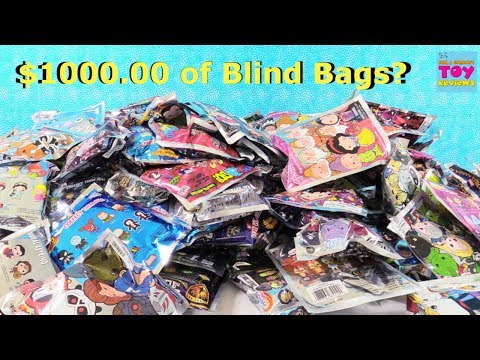 $1000 Blind Bag Figural Keyring Palooza Opening Disney Marvel Princess & More | PSToyReviews