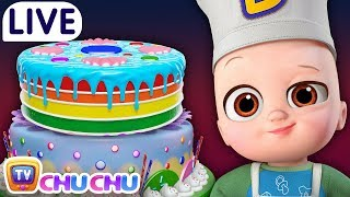 Gambar cover Pat a Cake + Many more Nursery Rhymes & Kids Songs - ChuChu TV LIVE