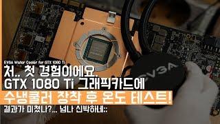 진짜 첫 경험해본 GTX 1080Ti 그래픽카드에 수냉쿨러 장착하기&온도 테스트 해보기! 결과값 보고 충격먹음...