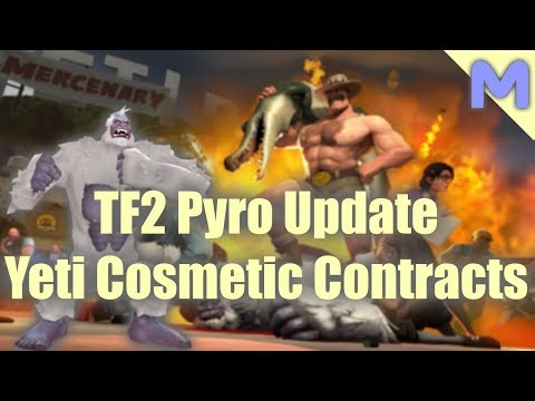 Team Fortress 2 Pyro Update - Yeti Cosmetic Contracts