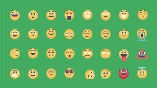 Animated Emoticons Pack | After Effects template