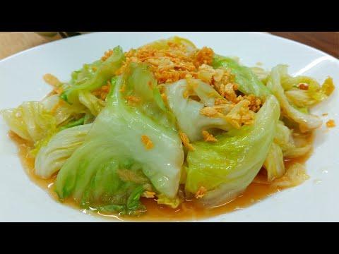กะหล่ำปลีผัดน้ำปลา เมนูง่ายๆโดนใจหลายๆคน  Stir Fried Cabbage with Fish Sauce