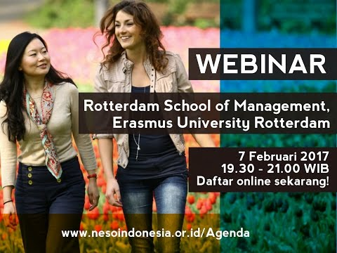 Webinar Studi di Rotterdam School of Management, Erasmus University Rotterdam