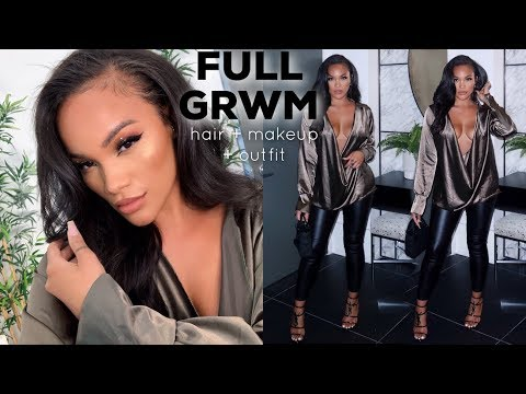 FULL GRWM S3XY NIGHT OUT FEATURING JACKIE AINA X ABH | HAIR + MAKEUP + OUTFIT | ALLYIAHSFACE thumbnail