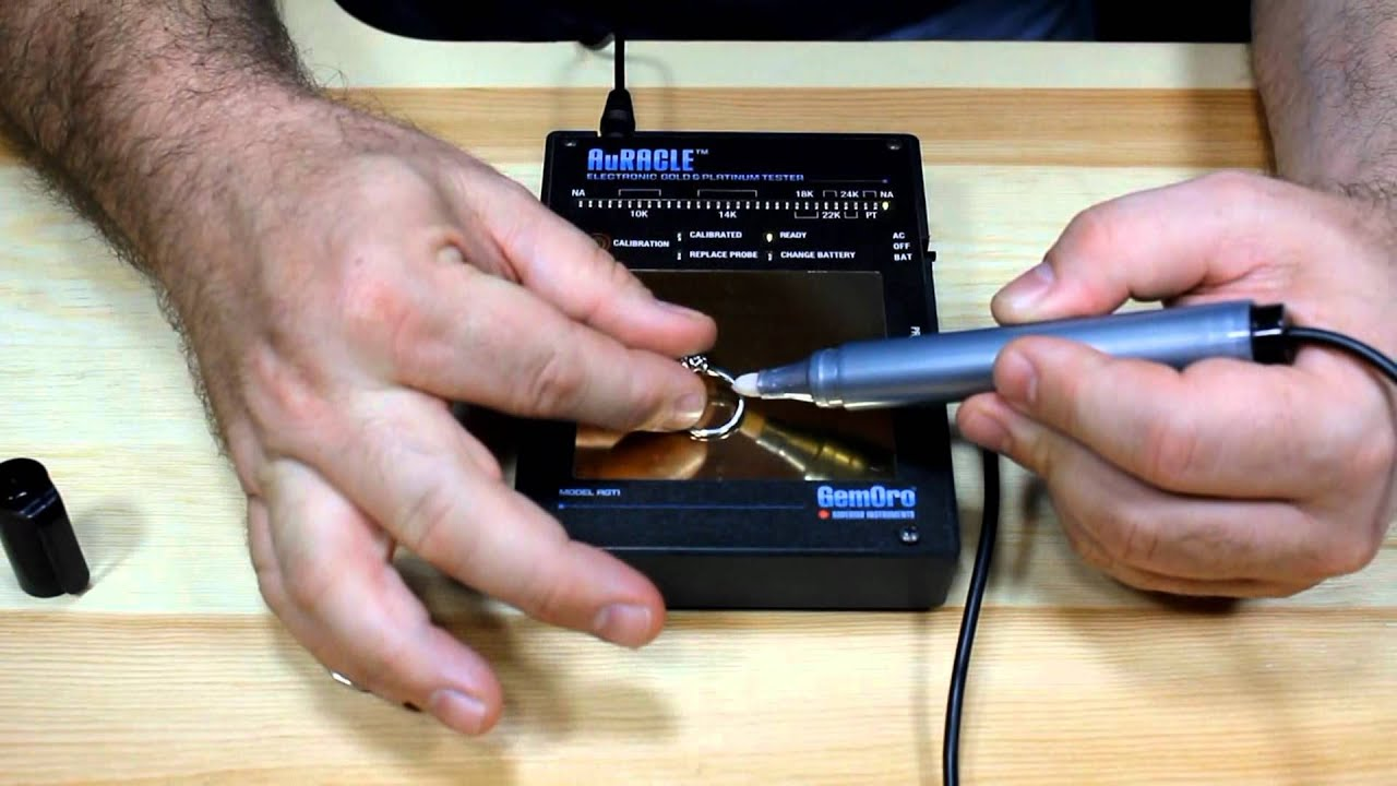 Uses For Gold Electronic : How to use the auracle electronic gold tester youtube