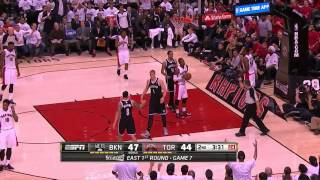"Raptors fans epic ""DE-FENSE"" and ""BULLSHIT"" chants - 2014.05.04"