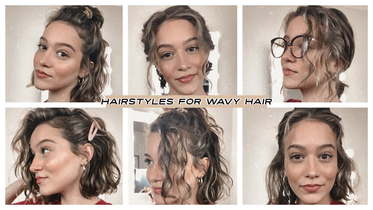 Easy Hairstyles For Short Wavy Hair Youtube