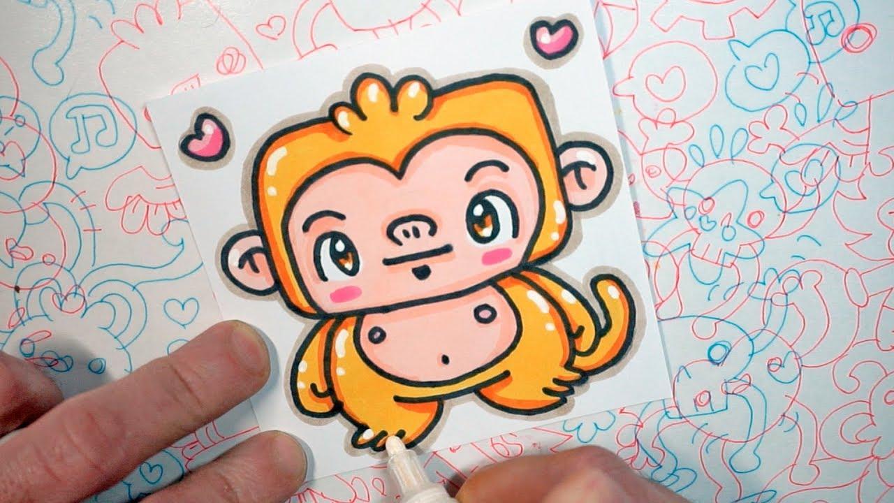 How To Draw A Kawaii Monkey Kawaii Doodles By Garbi Kw