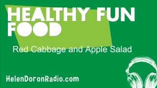 Healthy Fun Food Red Cabbage And Apple Salad