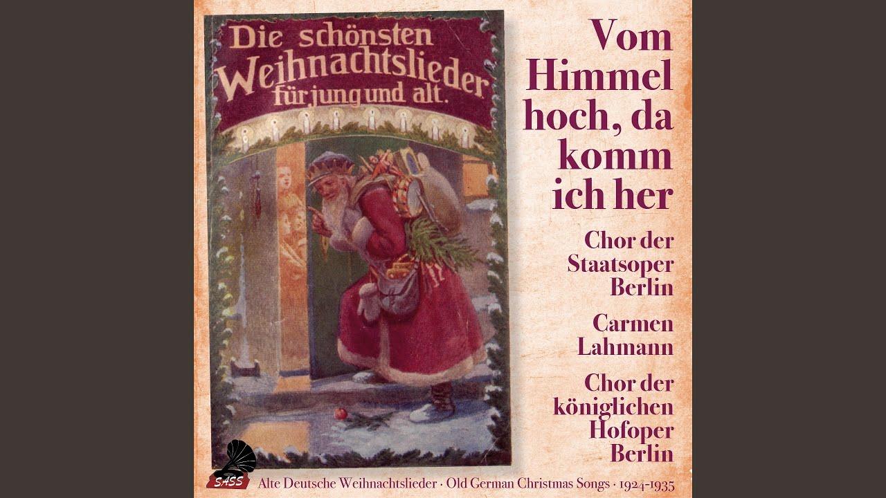 Deutsche Weihnachtslieder Zum Mitsingen.Deutsche Weihnachtslieder Zum Mitsingen Teil 1 2 Vom Himmel Hoch Da Komm Ich Her Am