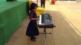 instrumental piano cover jan gan man national anthom by litle girl