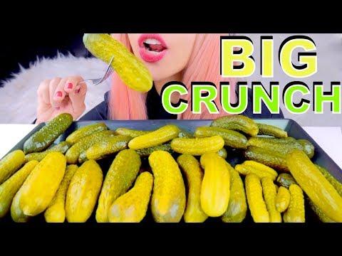ASMR PICKLES *big intense crunch* BINAURAL Eating Sounds