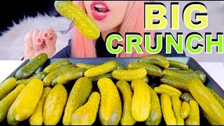ASMR PICKLES *big intense crunch* BINAURAL Eating Sounds thumbnail