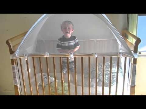 & Brettu0027s crib tent - YouTube