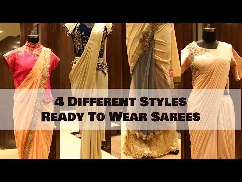 Indian Wedding Sarees - Ready to Wear Saree Trends