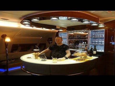 Emirates A380 Bar and AMAZING First Class Suite to Melbourne