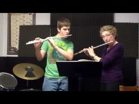 Flute Duet by Evan and Patty