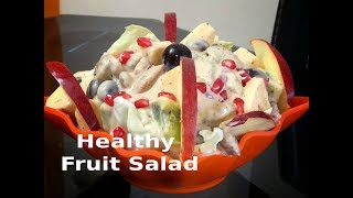 Healthy fruit salad recipe|Mayonnaise salad recipe
