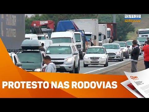 Protesto nas rodovias da região - TV SOROCABA/SBT