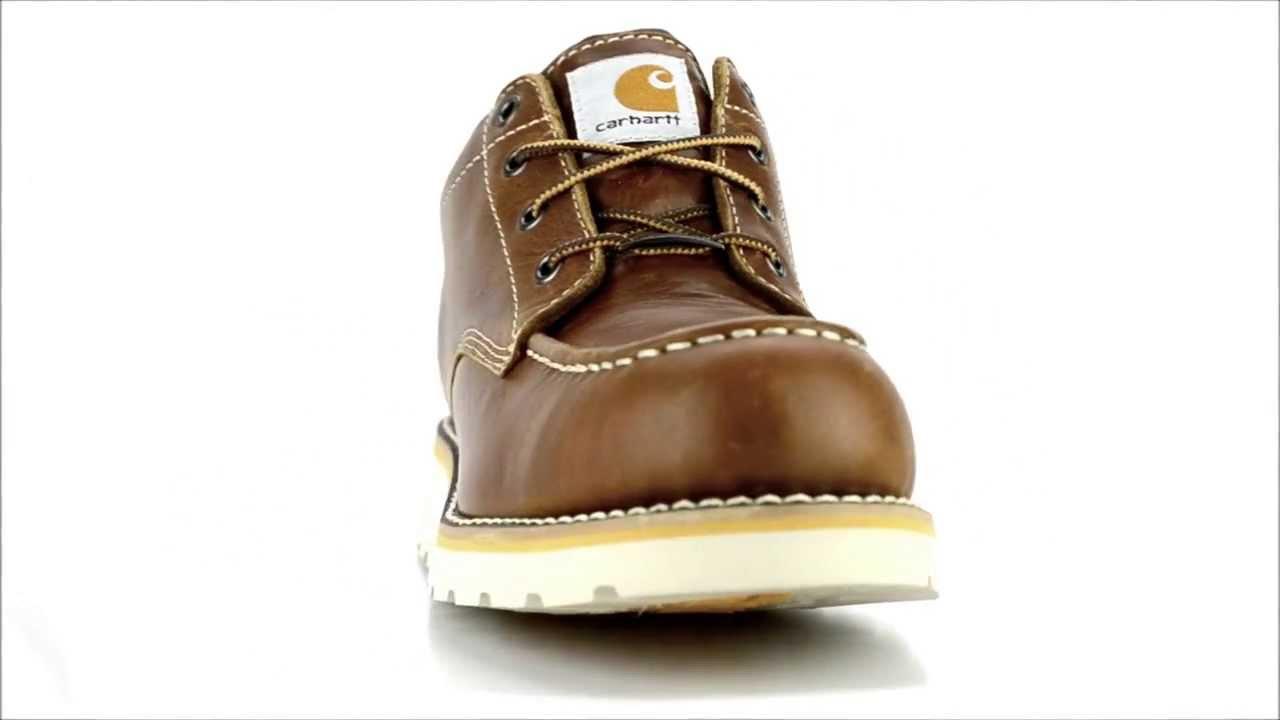 96dd49bee88 Men's Carhartt CMO3270 Steel Toe Waterproof Wedge Sole Work Shoe @  Steel-Toe-Shoes.com