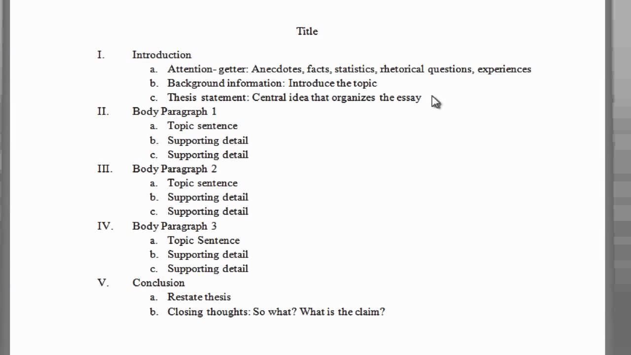 Outline For A 5 Paragraph Essay Diy Paragraph Essay
