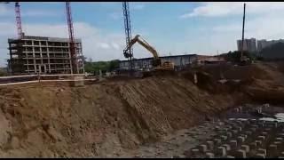 видео Свайные работы, как выполняется забивка свай