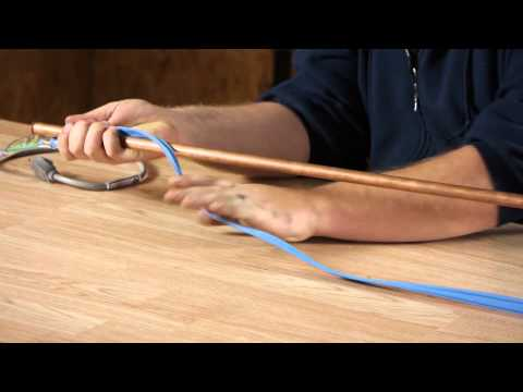 How to Install Heat Trace Wiring on a Copper Plumbing Pipe : Plumbing Plans & Problems