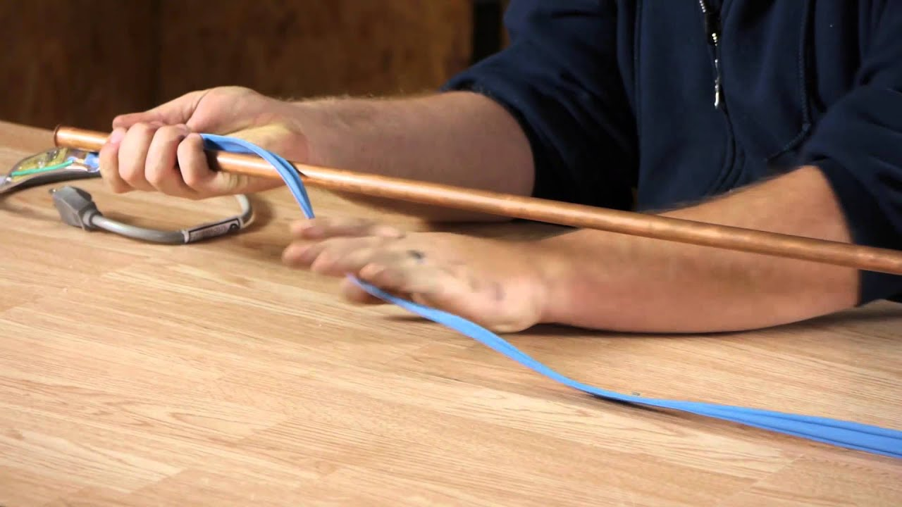 How to Install Heat Trace Wiring on a Copper Plumbing Pipe : Plumbing Can Wiring Money Be Traced on can filter, can fan, can design, can go, can frame, can dimensions, can wire,