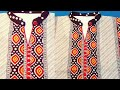 Round collar neck cutting and stitching in hindi/kurti collar neck cutting and stitching(40 size)