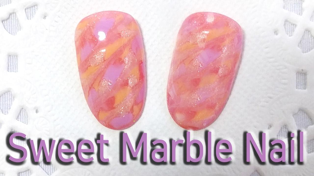 Nagel Kunst - Pink Marmor - YouTube