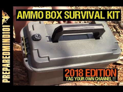 (2018) Ammo Box Survival Kit Build Challenge (Tag Your Channel)- Preparedmind101