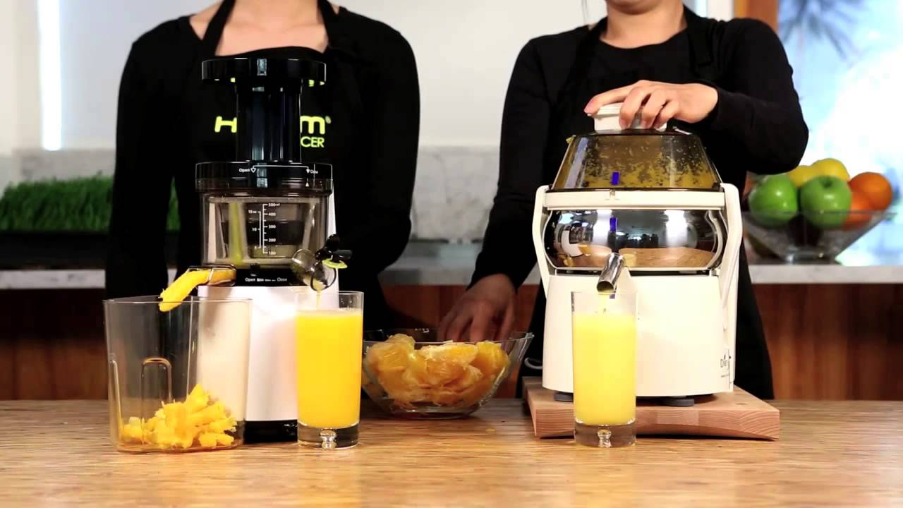 Hurom Slow Juicer Demonstration : Hurom HH Premium Series Slow Juicer/Smoothie Maker Demonstration - YouTube