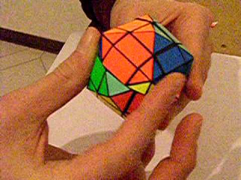 Handmade Rubik's cube type puzzle modification