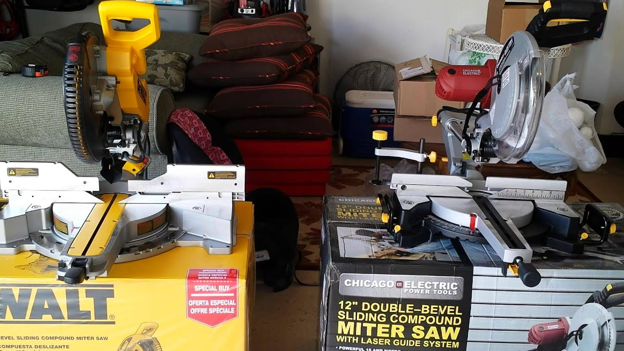 Dewalt dws782 vs harbor freight 12in miter saw youtube greentooth Choice Image