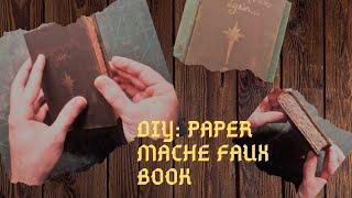 DIY: Paper Mache Fake Book