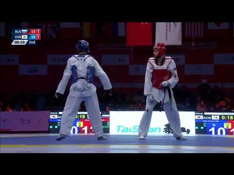 Wuxi 2018 World Taekwondo Grand Slam -68kg SF Daehoon LEE(KOR) vs Alexey DENISENKO(RUS)