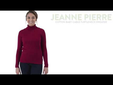 Jeanne Pierre Baby Cable Knit Turtleneck Sweater For Women Youtube