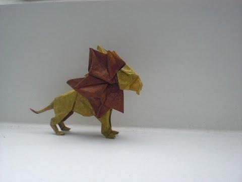 Origami Lion (Beth Johnson) Time lapse (No Tutorial)
