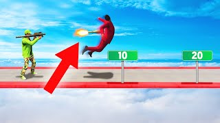 HOW FAR CAN YOU FLY ON A ROCKET?! (GTA 5 Funny Moments)