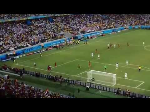 Brazil World Cup 2014-Germany -Ghana 2-2-Asamoah Gyan makes it 2-1! Violent fans - out