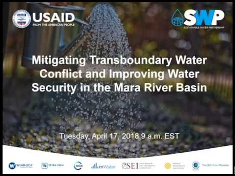 Mitigating Transboundary Water Conflict and Improving Water Security  Webinar