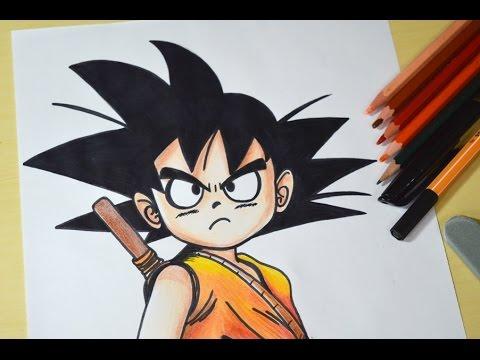Como Desenhar O Goku Crianca Passo A Passo Youtube