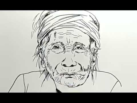Cara Menggambar Orang Nenek Tua How To Draw Old Woman Youtube
