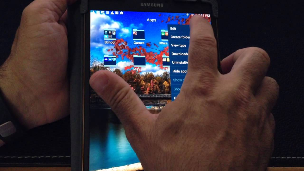 Organizing Apps samsung galaxy tab s 8.4 & 10.5 tip: organizing your apps in