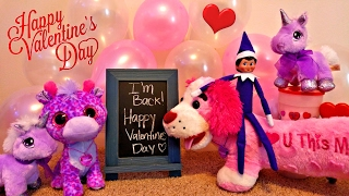 Purple Elf on the Shelf Returns! Happy Valentine's Day Special