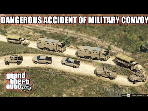 GTA 5 | Military Convoy | Dangerous Accident of Military Convoy on Mountain | Game Loverz |